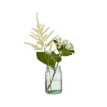 Design Ideas Mason Recycled Blown Glass Vase, Bottle Neck 2.25 Neck Clear Glass