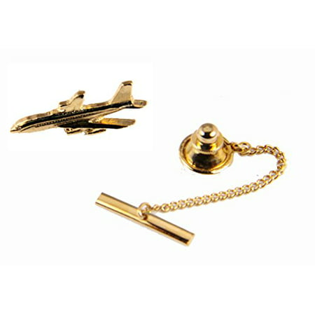 Airliner Lapel Pin Tie Tack Clasp Steward Stewardess Brooch Jet Airline