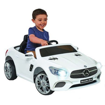 6 Volt Mercedes Sl 400 White Convertible   Enjoy The Open Road In This Stylish Convertible Mercedes!! by Mercedes