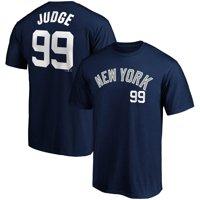 Men's Fanatics Branded Aaron Judge Navy New York Yankees Name & Number T-Shirt