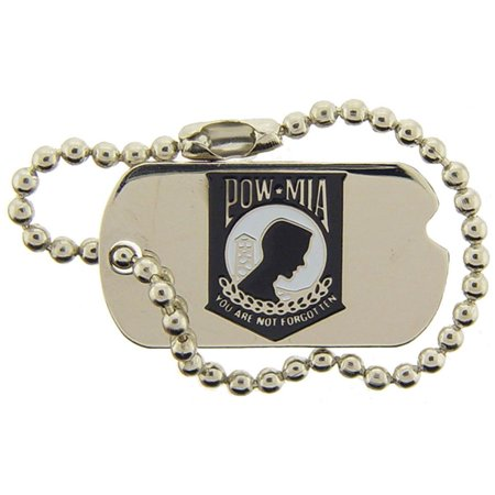 POW MIA Dog Tag with Chain Pin 1