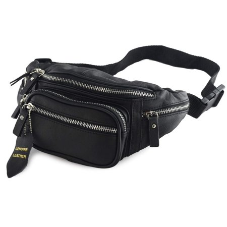 c3c182c630b4 Nabob Leather Leather Fanny Pack, Hip Bum Bag, Mens Waist Bag, Unisex  Travel Pouch, Multiple Pockets, Perfect For Camping Casual Running, Hiking,  ...