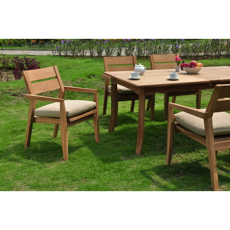 Teak Dining Set:6 Seater 7 Pc - 94