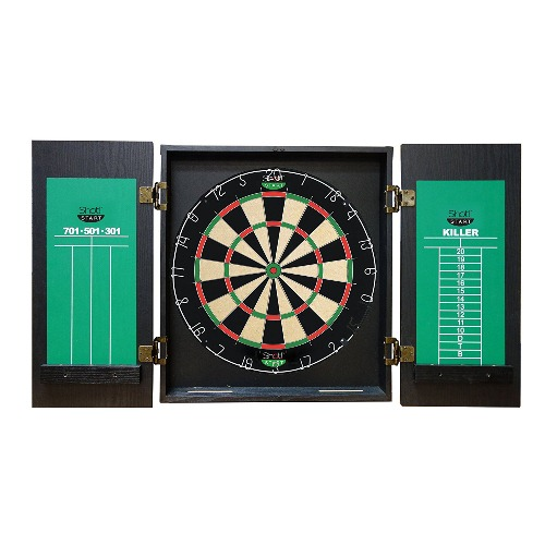 Shot! Dartboard Cabinet Set - Bulldog