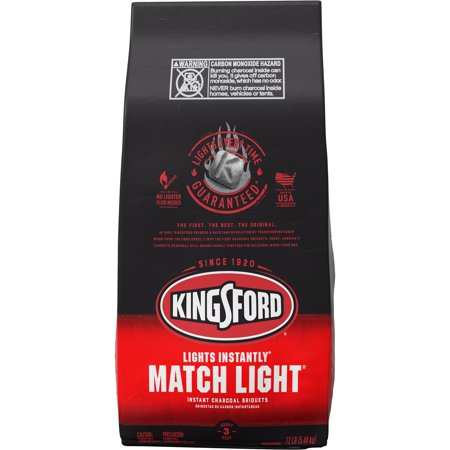 Kingsford Match Light Instant Charcoal Briquettes, BBQ Charcoal for Grilling - 12 Pounds