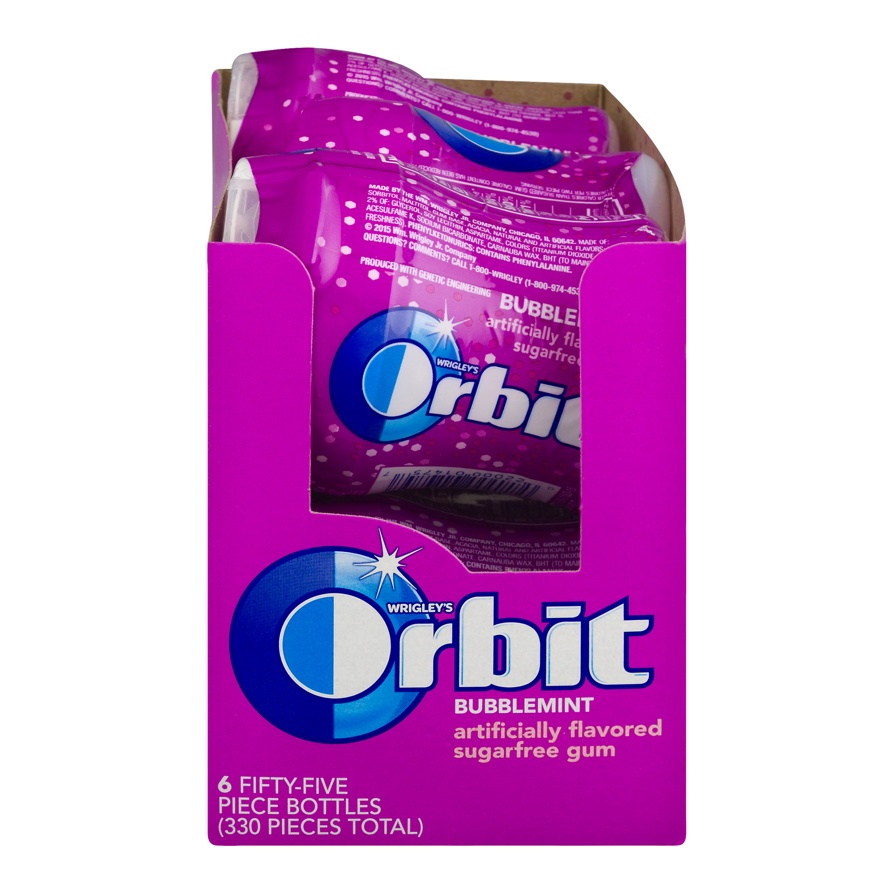 Orbit, Sugar Free Bubblemint Chewing Gum, 6 Ct