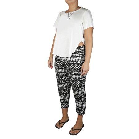 Lucy Diamonds Women's Plus Size Tapered Leg Pull-On Capri (Best Capri Pants 2019)