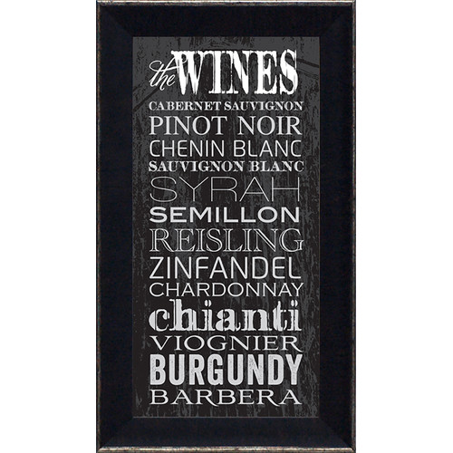 Artistic Reflections The Wines by Tonya Framed Textual Art