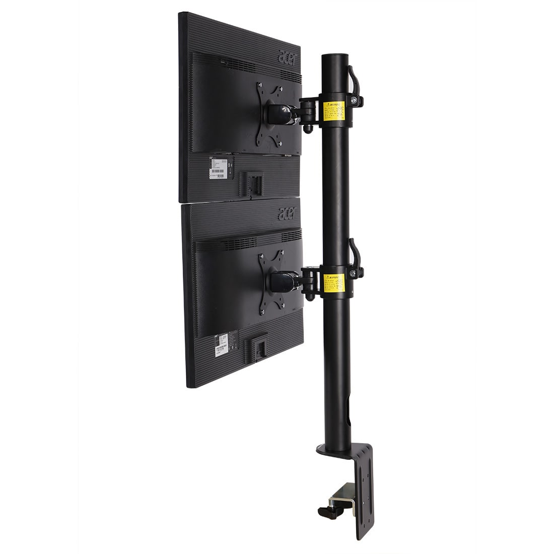 "FLEXIMOUNTS D1DV Full Motion Vertical Dual Desk Mounts Stand for 2 screens up to 27"" LCD Monitor"