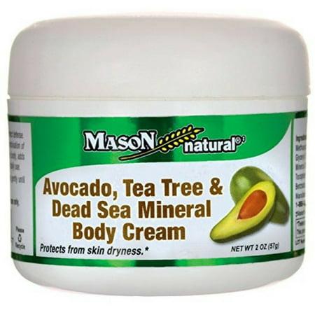 4 Pack - Mason Natural Avocado, Tea Tree & Dead Sea Mineral Body Cream 2 oz
