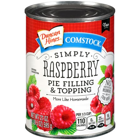 Duncan Hines Comstock Simply Raspberry Pie Filling & Topping, 21