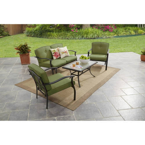 Mainstays Belden Park 4-Piece Outdoor Sofa Set, Seats 4 by Courtyard Creations Inc