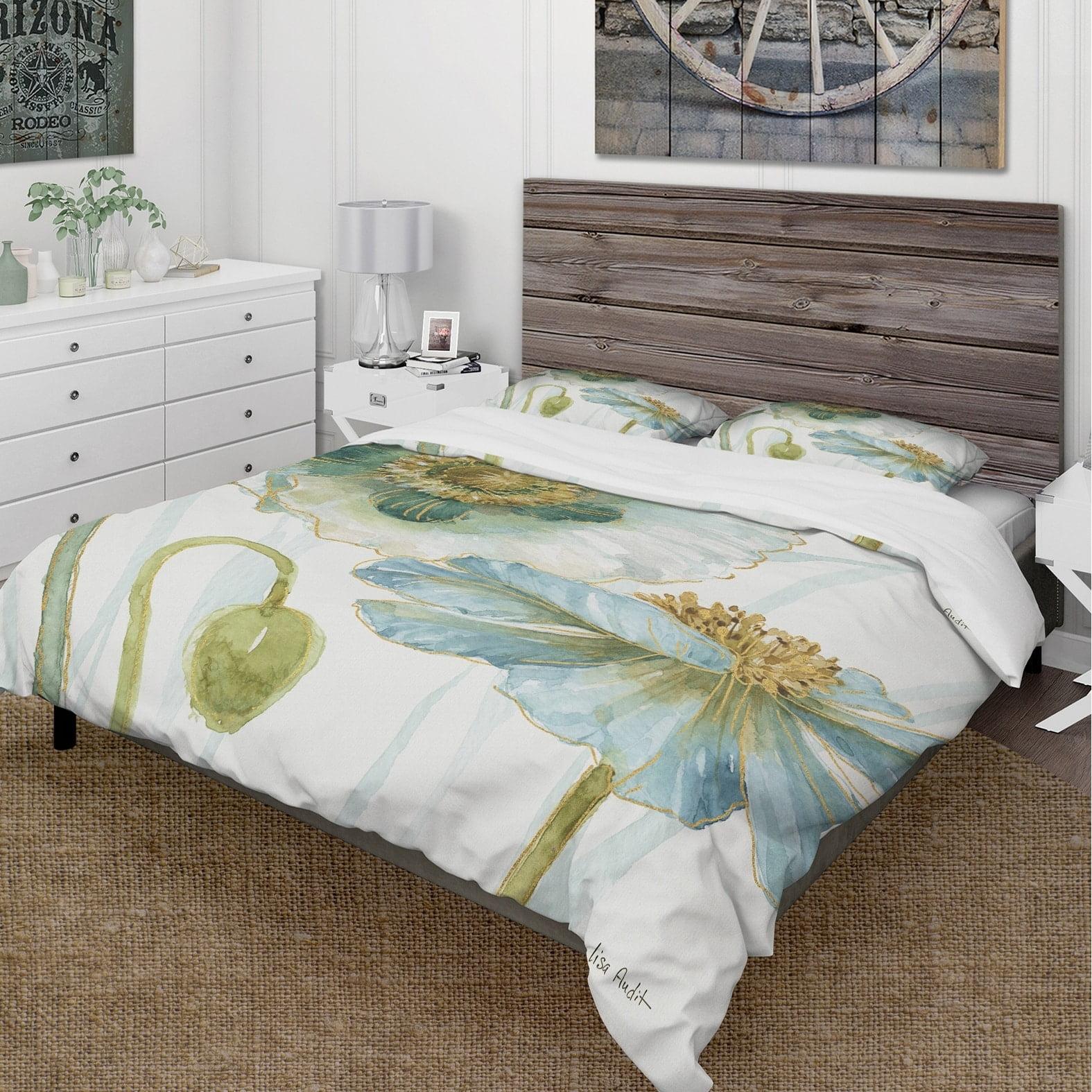 DESIGN ART Designart 'My Greenhouse Cottage Flowers II' Cottage Bedding Set - Duvet Cover & Shams