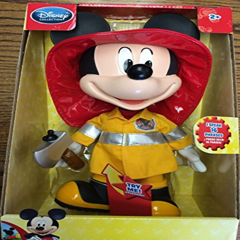 Disney Exclusive Mickey Mouse Clubhouse 13 Inch Fire Rescue Talking Mickey by