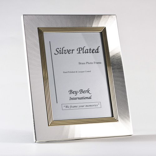 Bey-Berk Silver/Brass 4 x 6 in. Photo Frame - Tarnish Proof