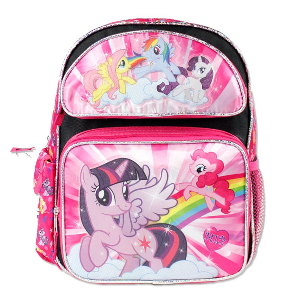 Small Backpack - My Little Pony - Black  w/5 Ponies on the Front New 109435