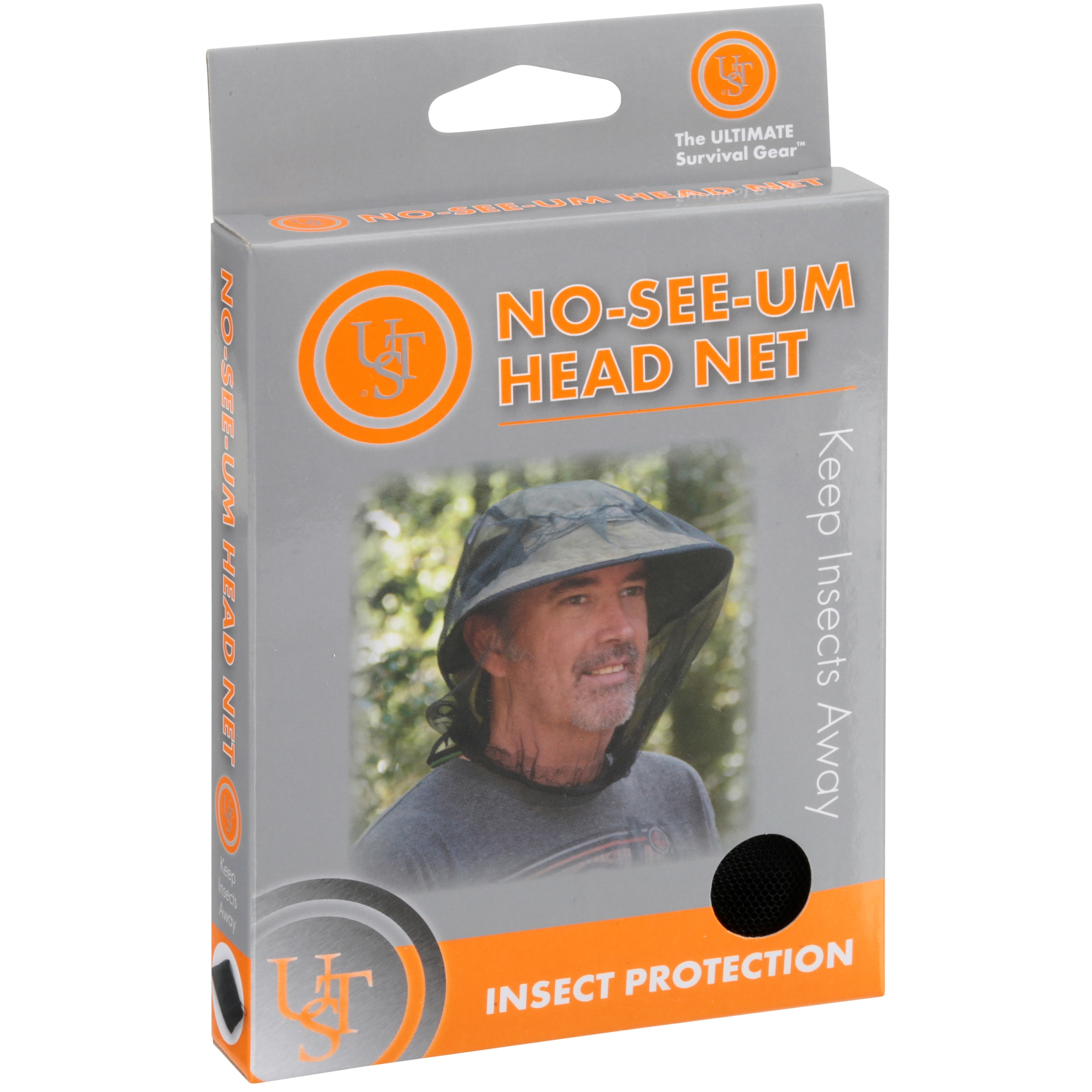 UST NO SEE UM LIGHTWEIGHT INSECT HEAD NET BUSHCRAFT CAMPING HIKING