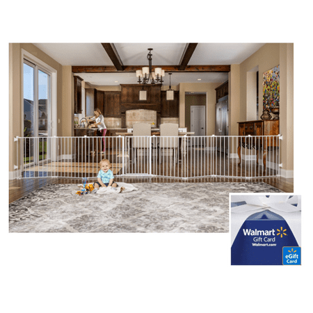 Regalo 192-Inch Baby Gate and Play Yard + $10 Gift Card ()