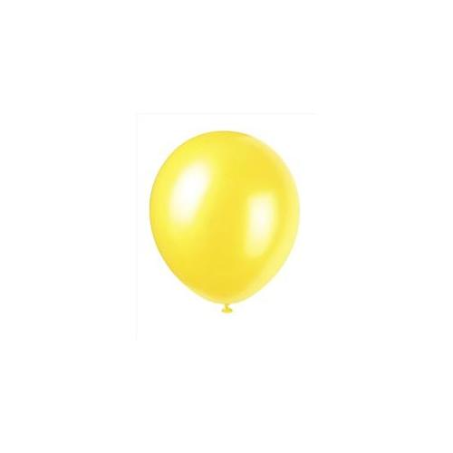 Unique Industries 5194 10 count 12 inch Pearl Balloons in Golden Yellow - 144 Packs