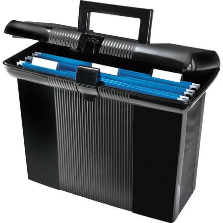Portafile File Box (Pendaflex, PFX41732, Portafile File Storage Box, 1 Each, Black)