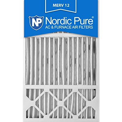 Nordic Pure 16x25x5 Honeywell Replacement AC Furnace Air Filters MERV 12, Box of 1