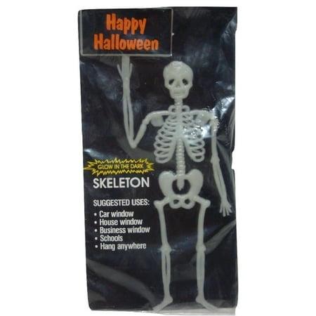 Hanging Window Glow in Dark Skeleton Halloween Decor - Glow Novelties