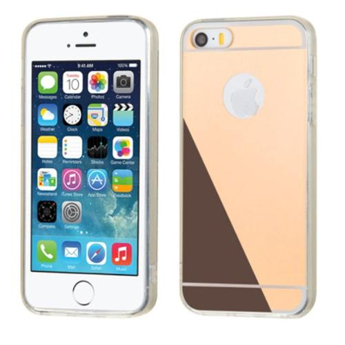 Insten Rubber Case For Apple iPhone SE / 5 / 5S - Gold