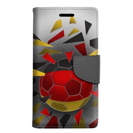 Alcatel Pop 4 Wallet Case - Soccer Ball Germany Flag Case
