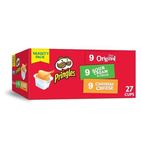 Pringles Snack Stacks Potato Crisps Chips, Flavored Variety Pack 19.3 Oz 27 Ct