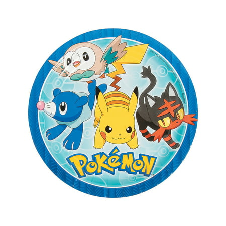 Fun Express - Pikachu & Friends Dinner Plates (8pc) for Birthday - Party Supplies - Licensed Tableware - Licensed Plates & Bowls - Birthday - 8 Pieces