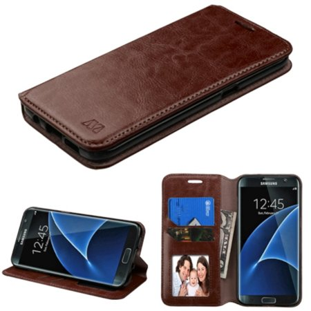 Samsung Galaxy S7 Edge Case, by Insten Flip Leather Wallet Cover Stand Case with card slot For Samsung Galaxy S7 Edge case cover