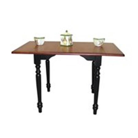 Sunset Trading Drop Leaf Dining Table In Nutmeg With Light Oak Top