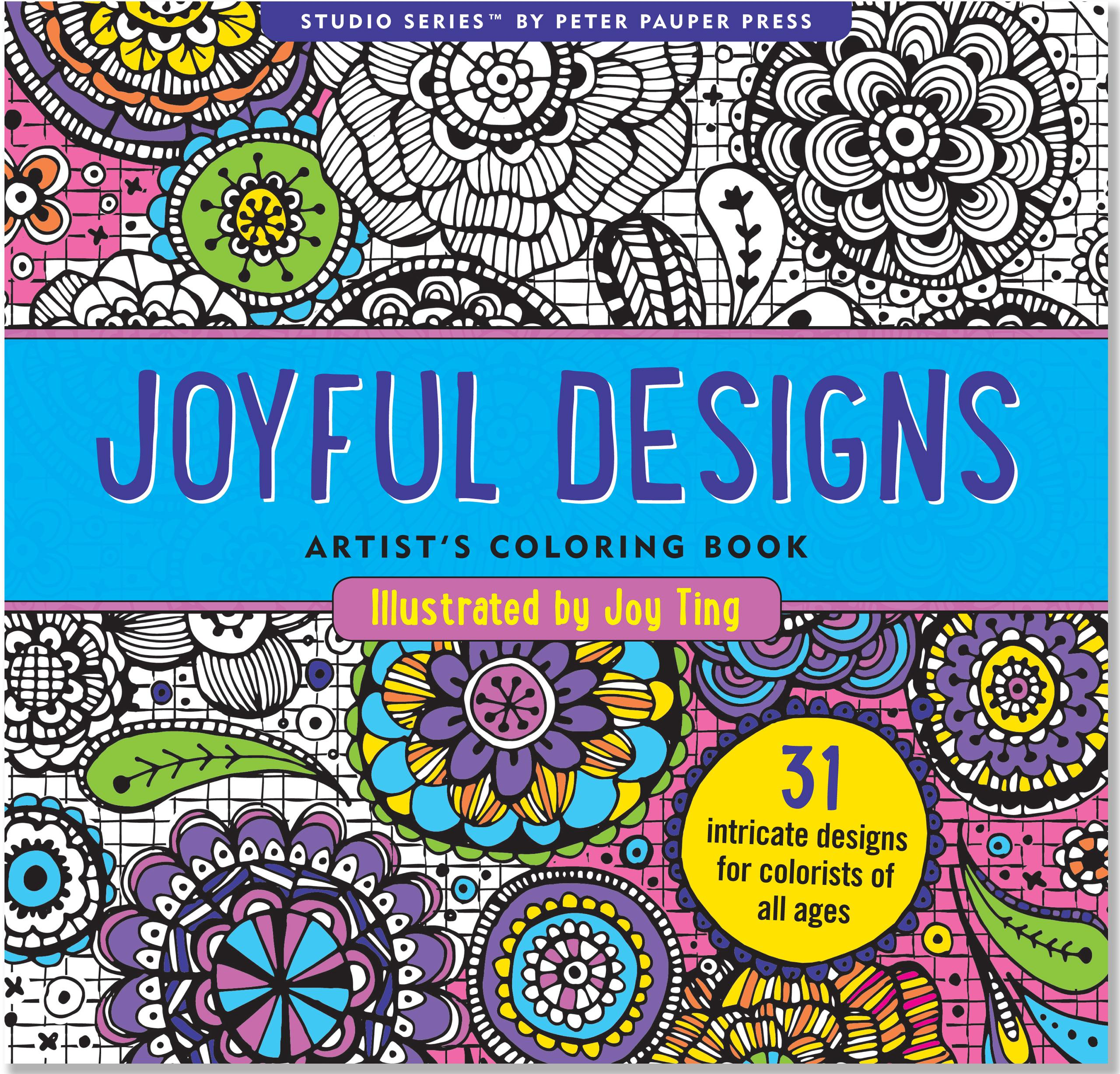 Joyful Designs Artist's Coloring Book (Paperback)