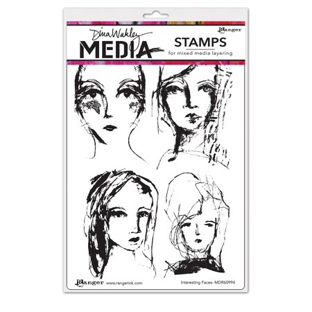 Ranger Interesting Faces Dina Wakley Media Cling Stamps 6