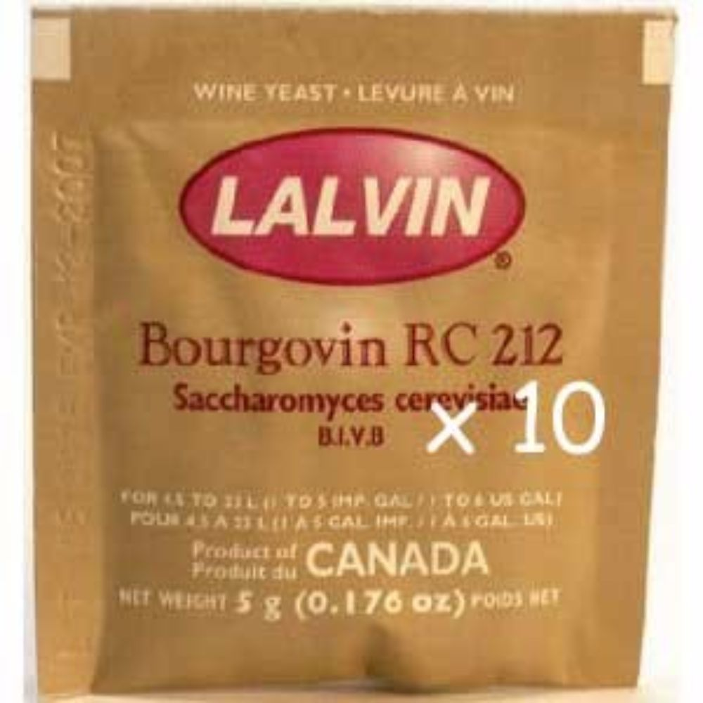 Bourgovin RC-212 (10 Packs) Wine Yeast by Lalvin