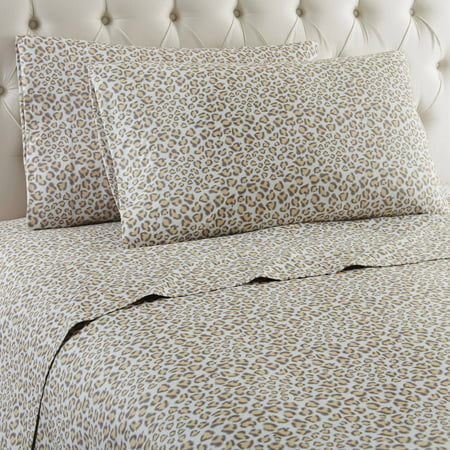 Frost Sheet (Micro Flannel® Printed Color Sheet Set, Queen, Leopard)