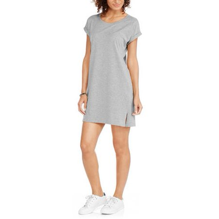 fca752bdf632b Mia Kaye - Women's Easy Knit Slit Side T-Shirt Dress - Walmart.com