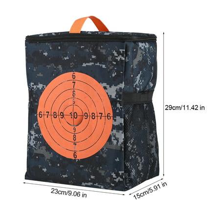 Knifun Portable Target Pouch Storage Carry Equipment Bag for Nerf Guns Darts N-strike Elite, Equipment Bag for Nerf Guns, Target Pouch Storage Carry