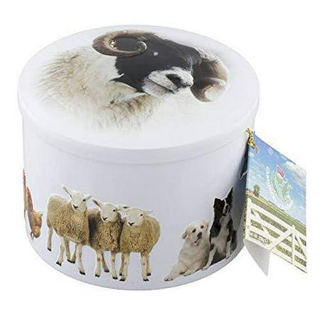 Gardiners Of Scotland Farm Animals Tin filled with Luxury Traditional Scottish Vanilla Fudge, 7 Ounce