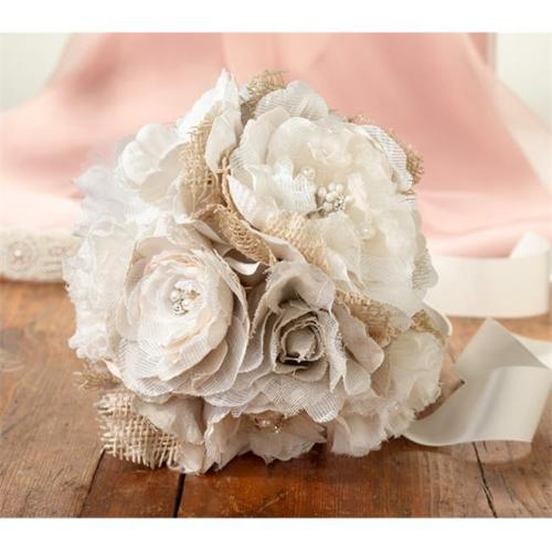 Lillian Rose Burlap and Flower Wedding Bouquet
