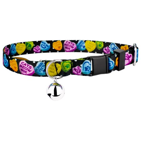 Country Brook Petz | Black Valentine's Candy Cat Collar (Black Cat Items)