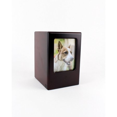 Picture Frame Memory Pet Urn in Black Cherry by