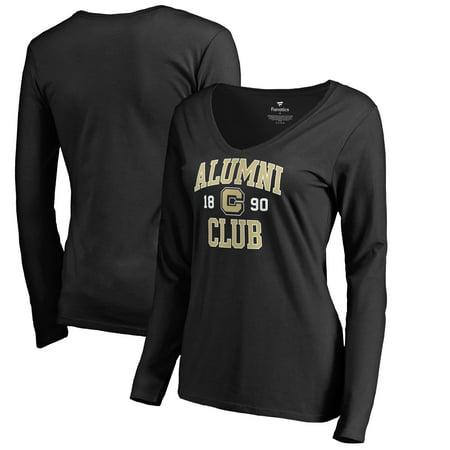 Alumni Arch (Colorado Buffaloes Fanatics Branded Women's C-Club Alumni Arch Long Sleeve V-Neck T-Shirt - Black)