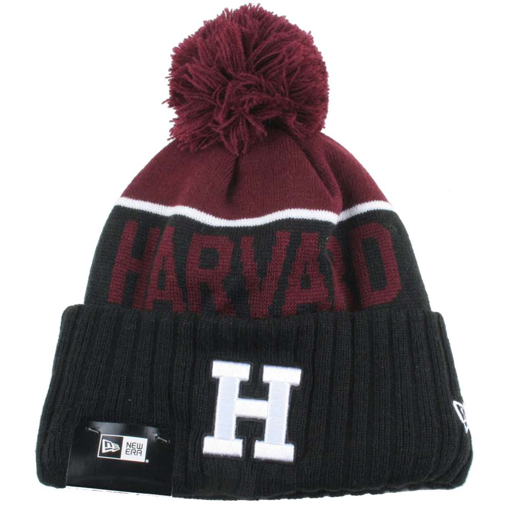Harvard Crimson New Era Sport Knit Pom Beanie