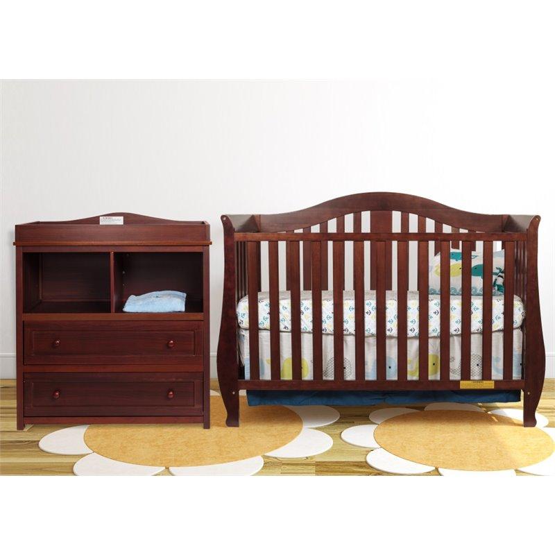 Afg Baby Furniture AFG Desiree 4-in-1 Convertible Crib wi...