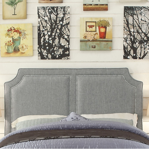 Mulhouse Furniture Sanibel Queen Upholstered Panel Headboard