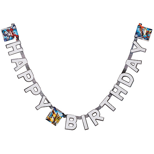 Transformers Birthday Party Banner, Party Supplies