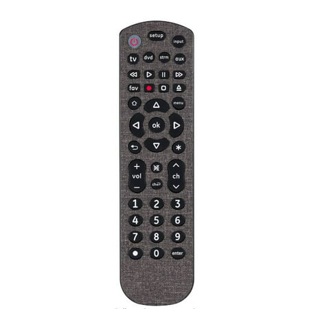 GE Universal Remote, Soft Touch, Dark Gray