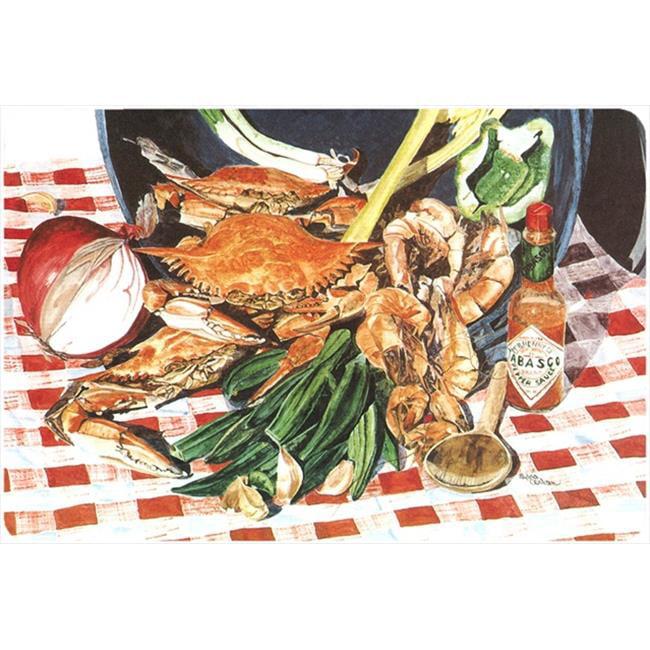 9.25 x 7.75 in. Crab Boil Mouse Pad, Hot Pad Or Trivet