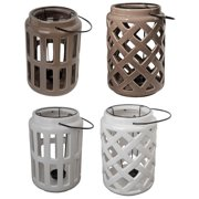 "Donny Osmond Home, Ceramic Tealight Candle Lantern 7""x10"", Set of 4"
